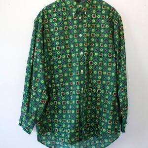 Retro Mens Button Down Shirt